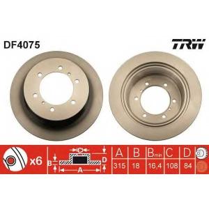 TRW AUTOMOTIVE DF4075 Гальмівний диск