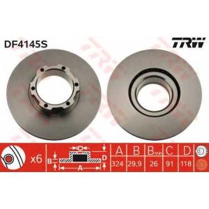 TRW DF4145S Тормозной диск
