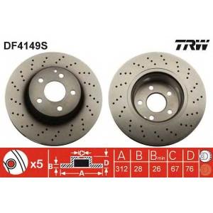 Тормозной диск df4149s trw - MERCEDES-BENZ S-CLASS (W220) седан S 320 (220.065, 220.165)