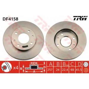 TRW DF4158 Тормозной диск