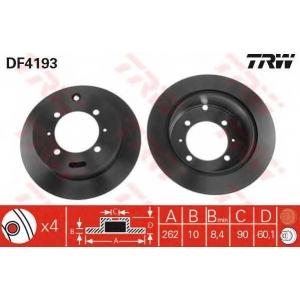 TRW AUTOMOTIVE DF4193 Гальмівний диск