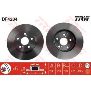 Тормозной диск df4204 trw - TOYOTA PREVIA (MCR3_, ACR3_, CLR3_) вэн 2.4 16V