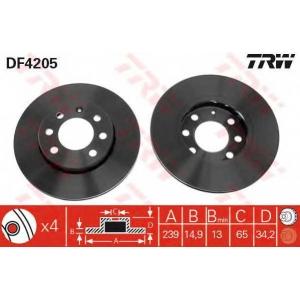 TRW DF4205 Тормозной диск