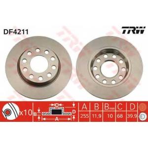 Тормозной диск df4211 trw - AUDI A4 (8E2, B6) седан 1.8 T