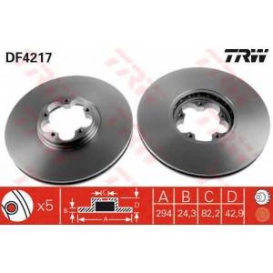 TRW DF4217 Тормозной диск