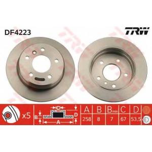 LUCAS DF 4223 Диск тормозной