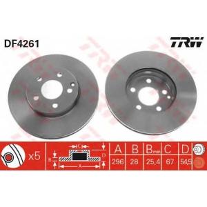 Тормозной диск df4261 trw - MERCEDES-BENZ E-CLASS T-Model (S211) универсал E 220 T CDI