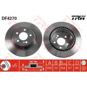 Тормозной диск df4270 trw - MERCEDES-BENZ CLS (C218) купе 350 (218.359)