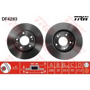 TRW DF4283 Диск тормозной HYUNDAI SONATA V, TUCSON передн., вент. (пр-во TRW)