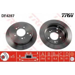 Тормозной диск df4287 trw - HYUNDAI SANTA F? I (SM) вездеход закрытый 2.7 4x4