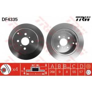 TRW DF4335 диски тормозные