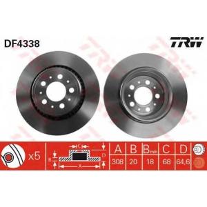TRW AUTOMOTIVE DF4338 Гальмівний диск