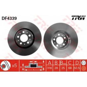 TRW DF4339 Тормозной диск