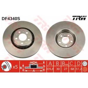 TRW AUTOMOTIVE DF4340S Гальмівний диск