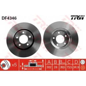 TRW AUTOMOTIVE DF4346 Гальмівний диск