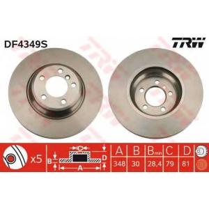TRW AUTOMOTIVE DF4349S Гальмівний диск