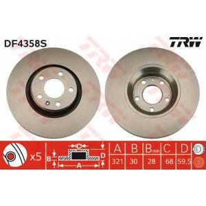 TRW DF4358S DF4358S  TRW - Гальмівний диск