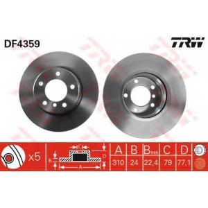 TRW DF4359 Тормозной диск