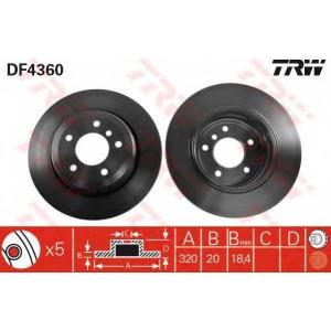 TRW DF4360 DF4360  TRW - Гальмівний диск