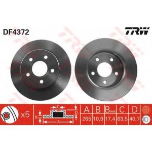 TRW DF4372 DF4372  TRW - Гальмівний диск