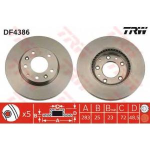 TRW DF4386 Диск тормозной MAZDA 6 передн., вент. (пр-во TRW)