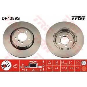 TRW DF4389S Диск гальмівний BMW E60 E65 E66