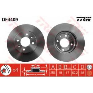 TRW AUTOMOTIVE DF4409 Гальмівний диск