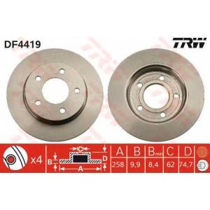 TRW DF4419 DF4419  TRW - Гальмівний диск