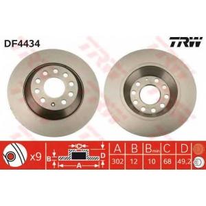 TRW DF4434 Диск гальмівний (комп. 2 шт) AUDI A6 R \04>>