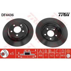 TRW DF4436 Тормозной диск