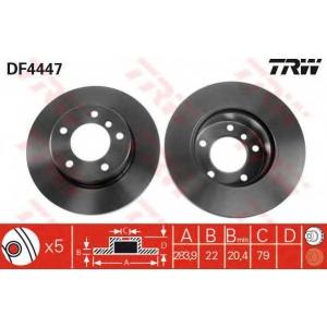 TRW AUTOMOTIVE DF4447 Гальмівний диск