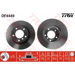TRW AUTOMOTIVE DF4449 Гальмівний диск