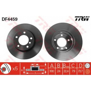 TRW DF4459 Тормозной диск