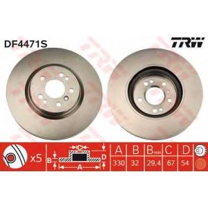 TRW AUTOMOTIVE DF4471S Гальмівний диск