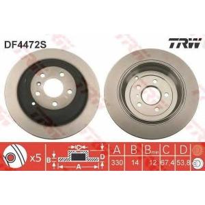 TRW DF4472S Диск тормозной (пр-во TRW)