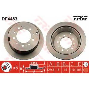 Тормозной диск df4483 trw - LEXUS LX (UZJ100) вездеход закрытый 470 4x4