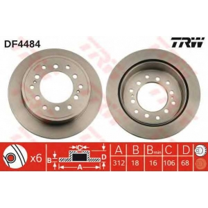 TRW DF4484 диски тормозные