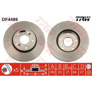 TRW DF4486 DF4486  TRW - Гальмівний диск