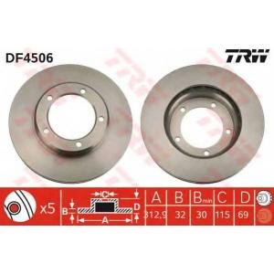 Тормозной диск df4506 trw - LEXUS LX (UZJ100) вездеход закрытый 470 4x4