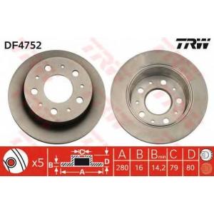 TRW DF4752 Диск тормозной FIAT DUCATO, PEUGEOT BOXER задн. (пр-во TRW)
