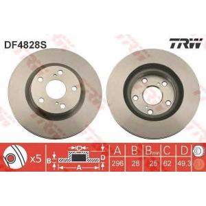 TRW AUTOMOTIVE DF4828S Гальмівний диск