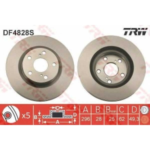 TRW DF4828S Тормозной диск