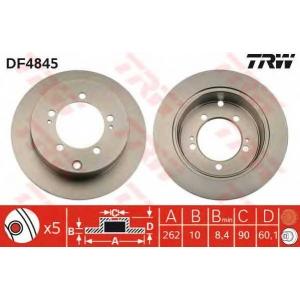 TRW AUTOMOTIVE DF4845 Гальмівний диск