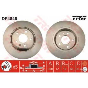 TRW DF4848 Диск гальмівний (комп. 2 шт) AUDI A4/A5/A7/Q5 R \07>>