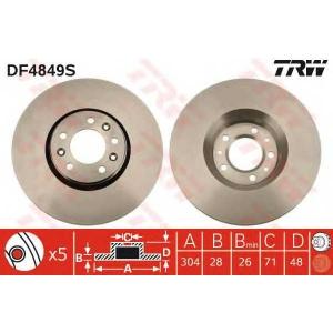 Тормозной диск df4849s trw - CITRO?N JUMPY вэн 1.6 HDi 90