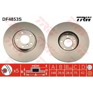 TRW DF4853S Диск гальмівний BMW X5/X6 F \07>>\