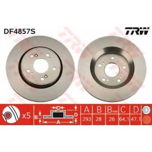 TRW AUTOMOTIVE DF4857S Гальмівний диск