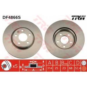 TRW DF4866S Тормозной диск
