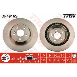 TRW DF4916S Диск гальмівний MERCEDES W221/C216 \05>>