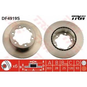 TRW DF4919S Диск гальмівний MERCEDES/VW Sprinter 906/Crafter \R \06>>
